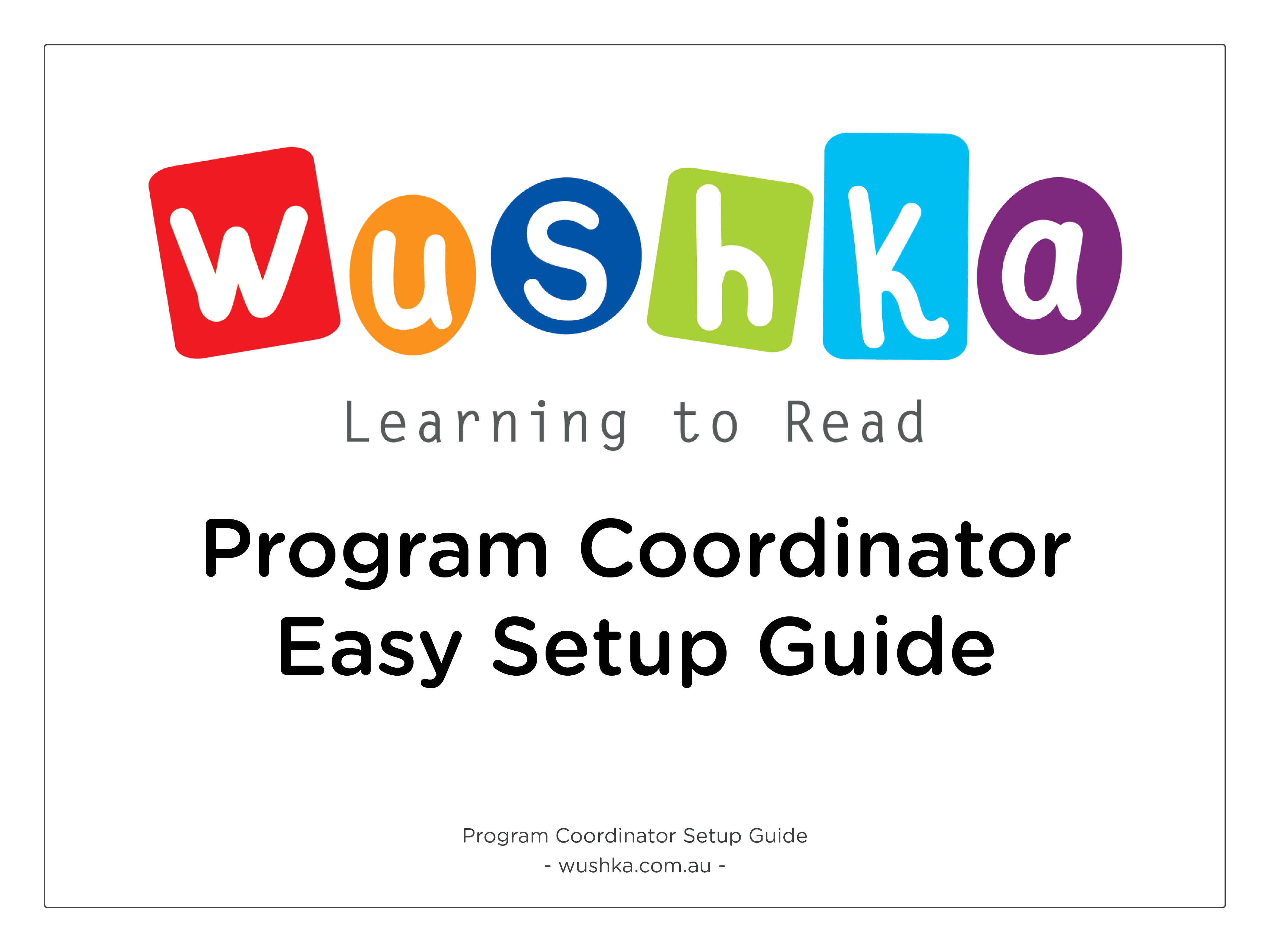 Program Coordinator Setup Guide